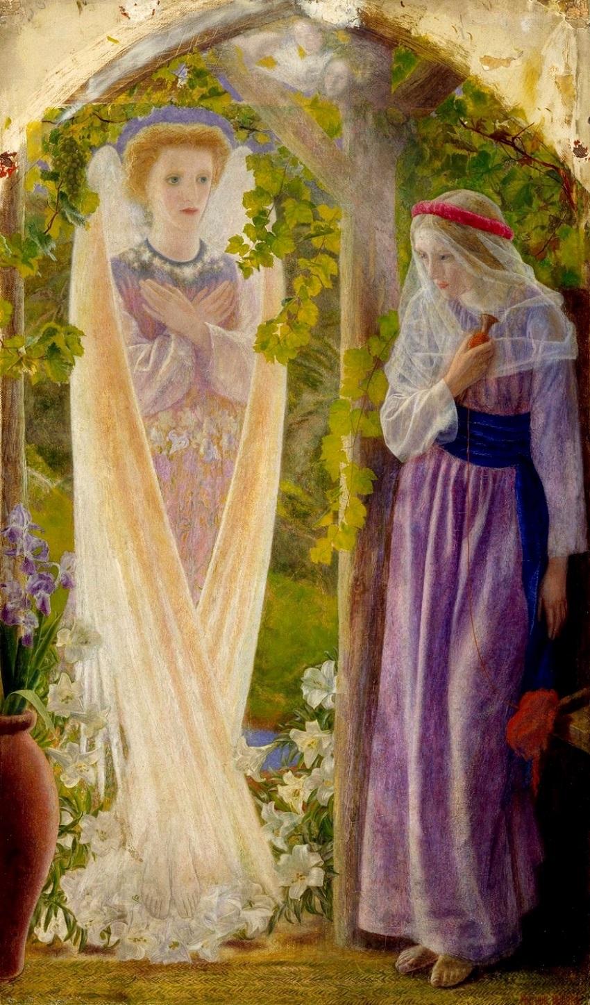 1857-1858 Благовещение (The Annunciation) Бирмингем, Музей и Художественная галерея