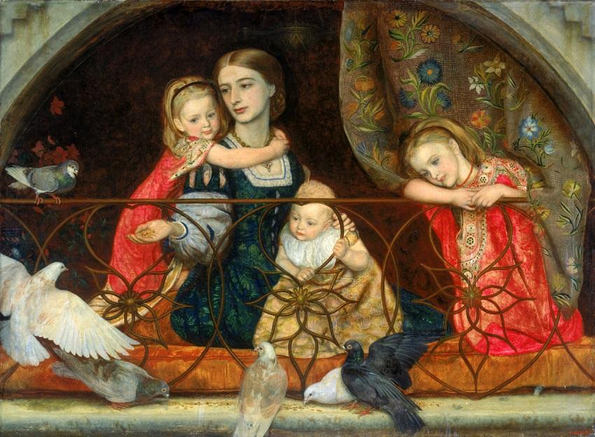 Миссис Leathart и трое её детей (1863-1865).