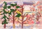 Мережкин Архип (рук. Богачева Марина Вадимовна) - Утро в зимнем лесу