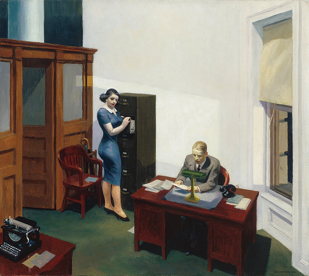 Hopper, Office at Night, 1940
