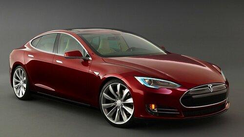 На дорогах Кишинева появился электромобиль Tesla S