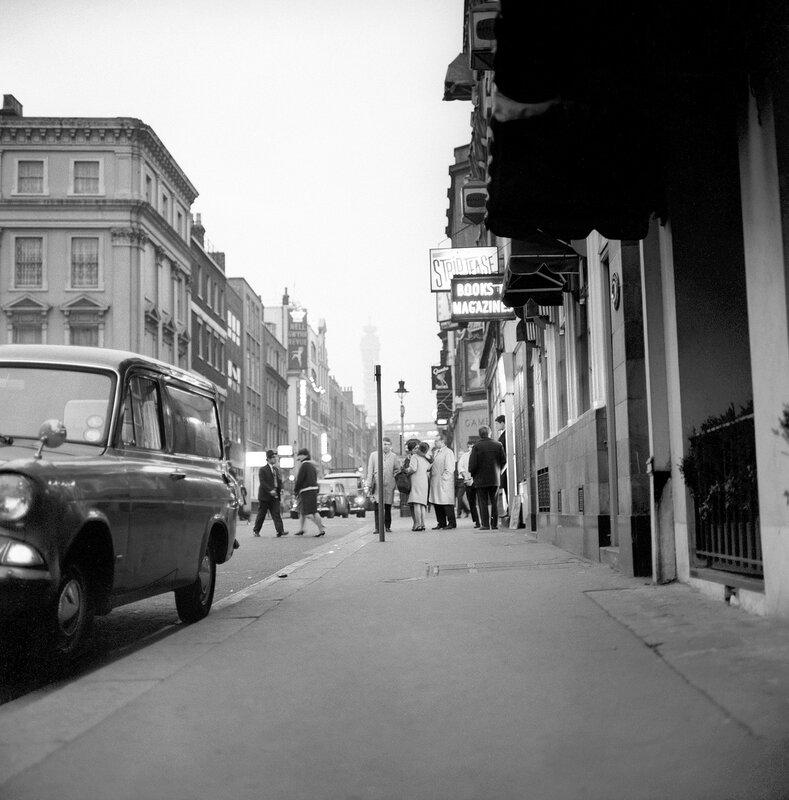 London Scenes - Soho - Coventry Street - 1966