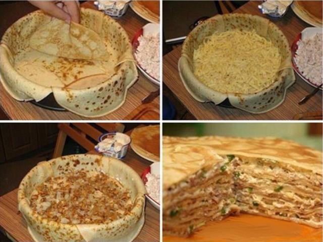 Рецепты торт с блинами рецепт пошагово