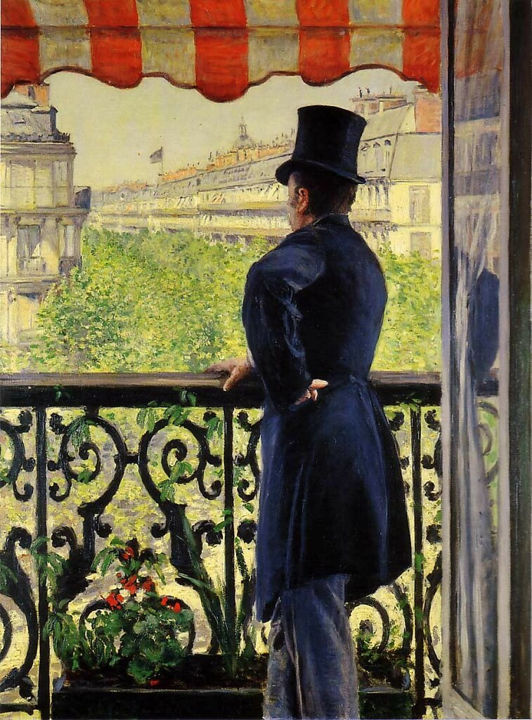 The Man on the Balcony  - 1880 - Private collection -  Painting - oil on canvas.jpg