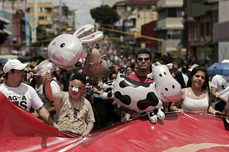 Марш против эксплуатации животных в Коста-Рике