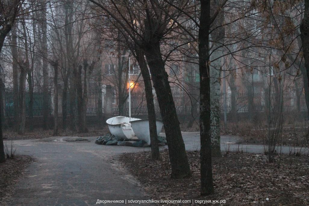 Раннее утро в парке Вгс