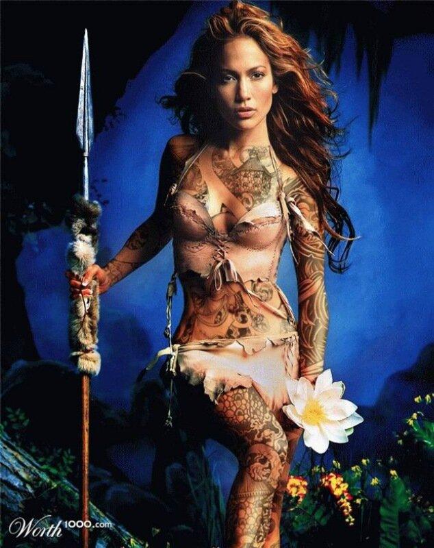 Смешные фотографии знаменитостей с ненастоящими татуировками