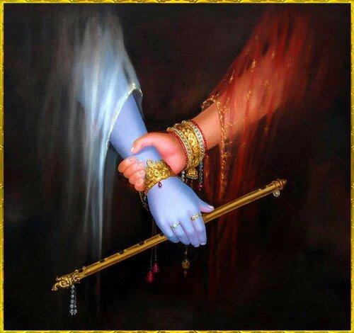 ����� ������ ������ - Radha holding Krishna