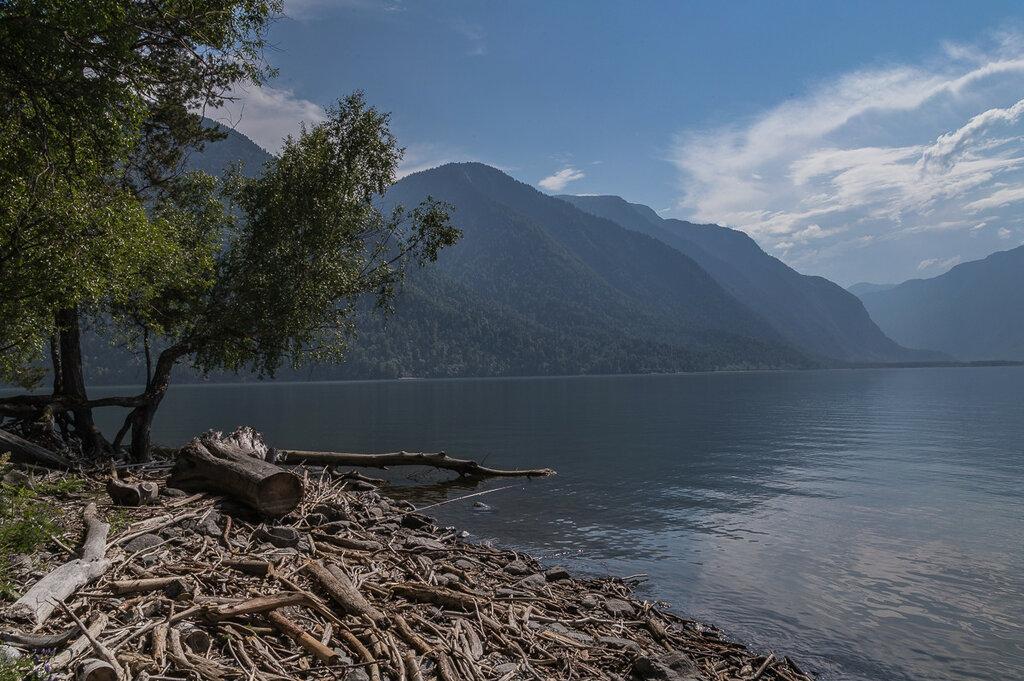 Телецкое озеро. Парит перед дождем