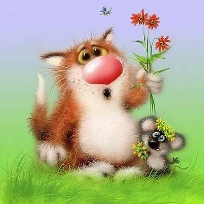 Красивые открытки и поздравления с международным женским днём 8 марта с котиками