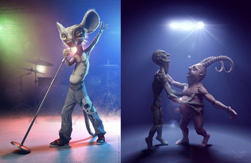 Цифровое искусство Никиты Верпикова. Классные иллюстрации в 3D жанре