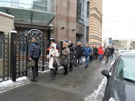 Валютные ипотечники ворвались вприемную «Единой России» вМоскве