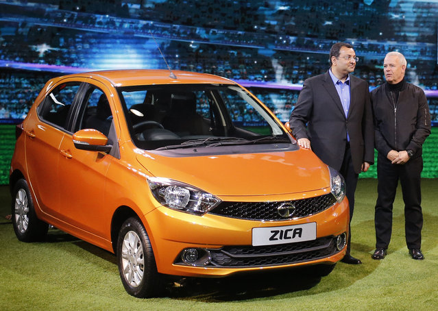 Chairman of Tata Group, Cyrus Mistry and Tata Motors' Head of Advanced and Product Engineering,