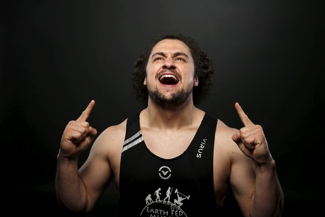 Weightlifter (94kg) Norik Vardanian poses for a portrait at the U.S. Olympic Committee Media Summit