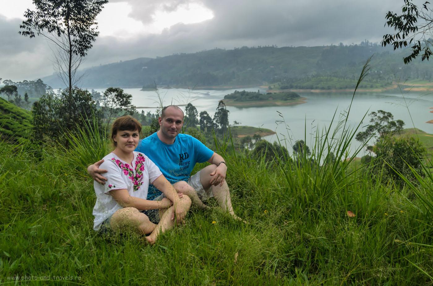 Фотография 21. На одном из серпантинов, цепляющемся за склон горы. На заднем плане - водохранилище Маскелия, образованное при строительстве плотины Maskeliya Dam. Самостоятельный тур по Шри-Ланке в мае. Отзывы туристов.