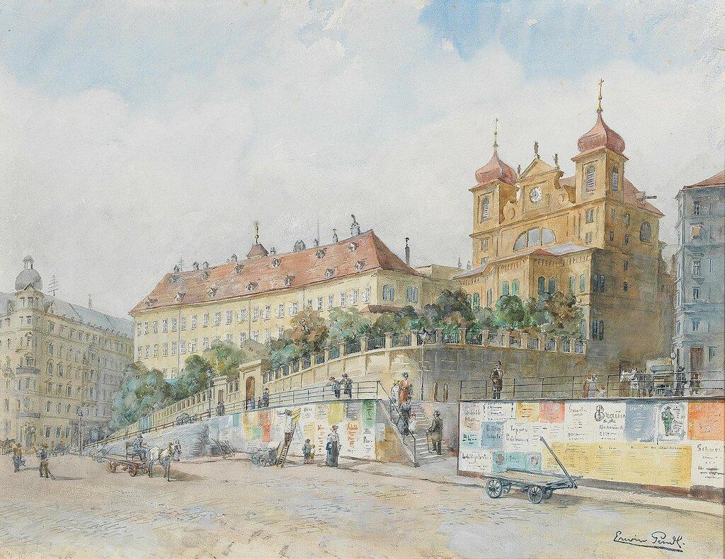 Erwin Pendl *(Wien 1875-1945) Blick über die Dominikanerbastei