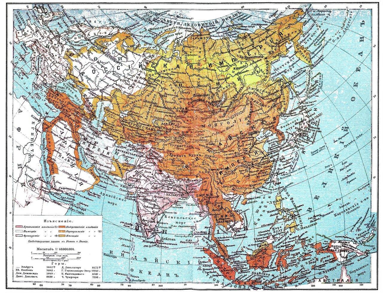1. Политическая карта Российской империи