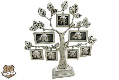 Металлическая фоторамка генеалогического древа семьи