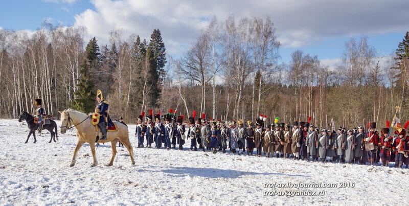 Историческая реконструкция отступления армии императора Наполеона из России, Афинеево, 27.02.2016