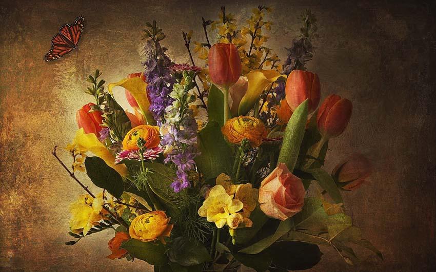 Цветы Букеты Фото Обои пролетарий стол