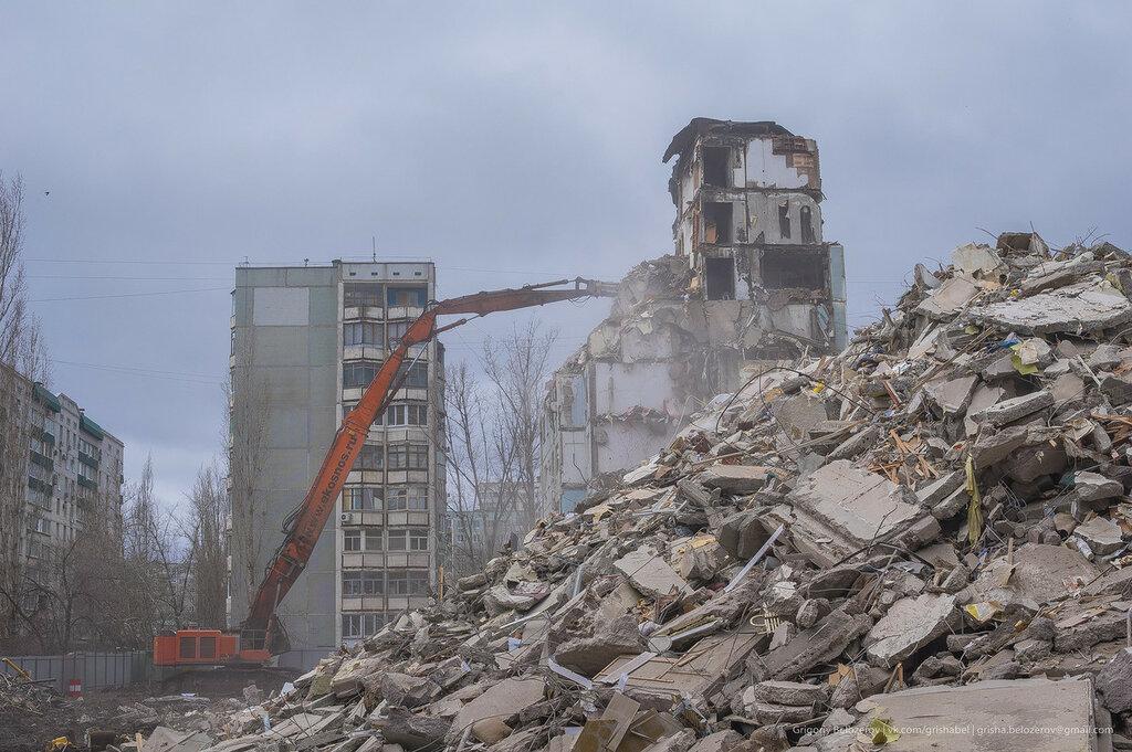 Снос дома в Волгограде