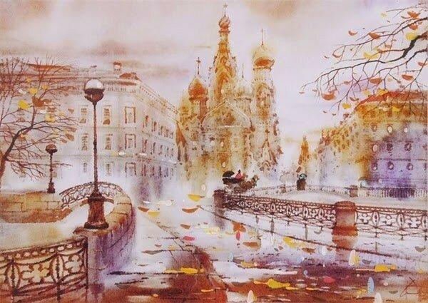 Акварельный Петербург