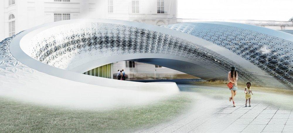 Проект Национальной библиотеки Австрии (8 фото)