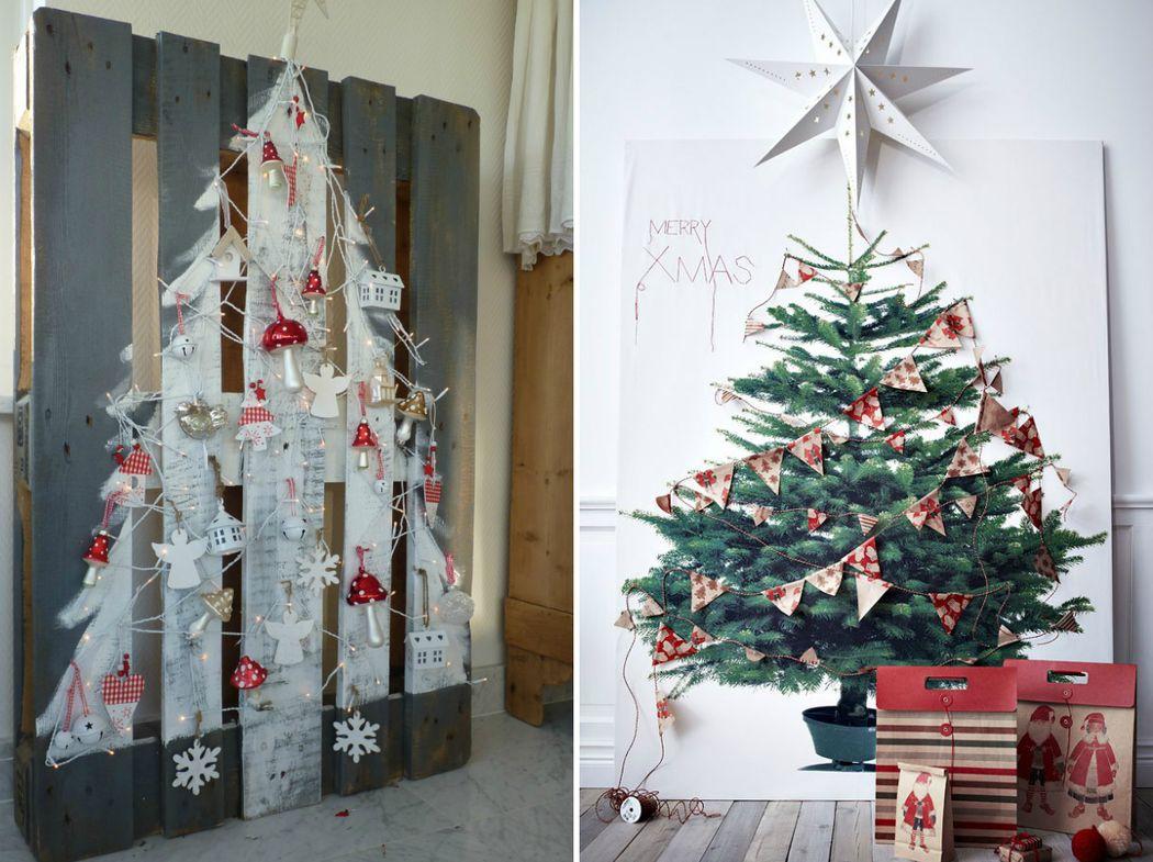 7. Нарисованная елка Можно нарисовать новогоднее дерево самостоятельно или приобрести готовый плакат