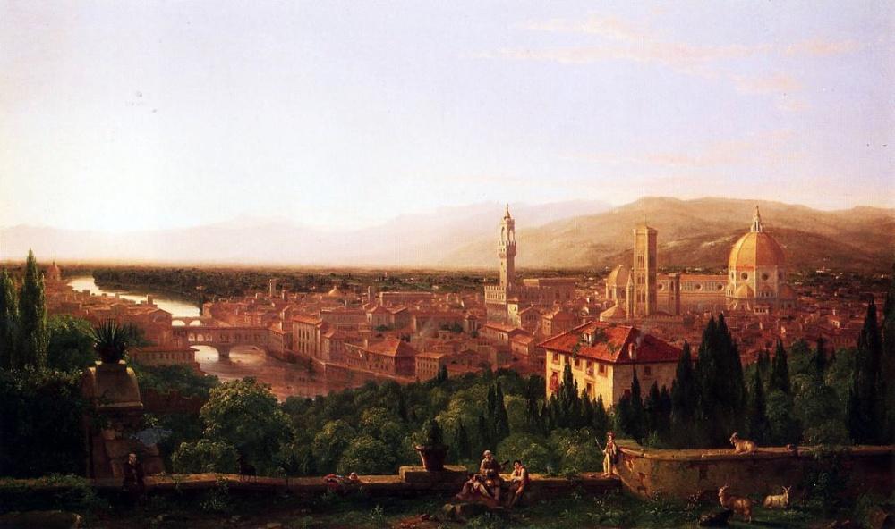 «Вид наФлоренцию сСан-Миниато», художник Томас Коле (Thomas Cole).