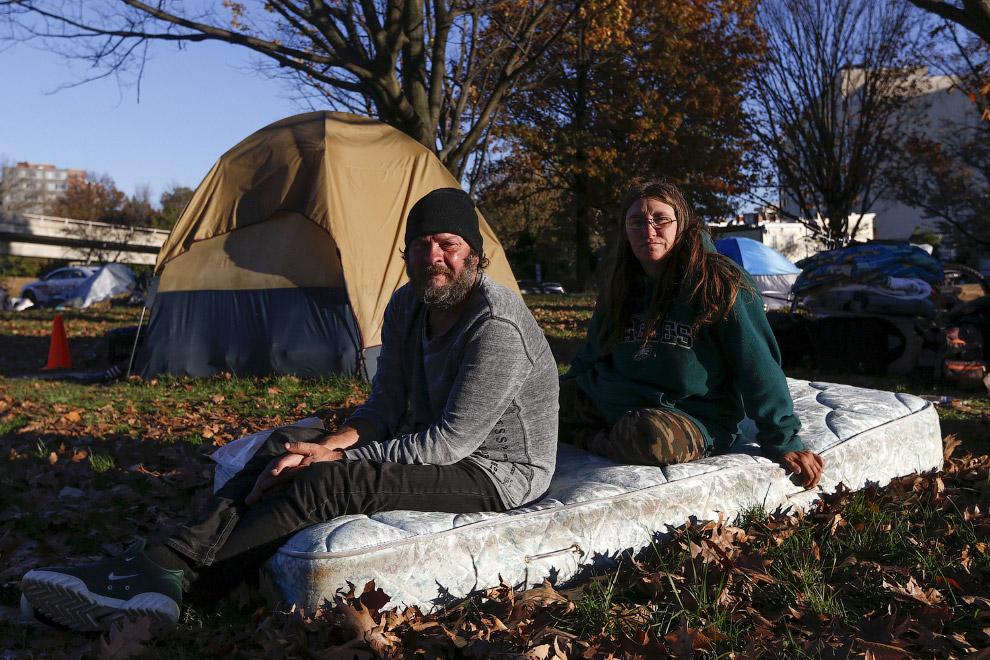 6. 31-летний бездомный из Сиэтла, штат Вашингтон, 9 октября 2015. (Фото Shannon Stapleton | Reu