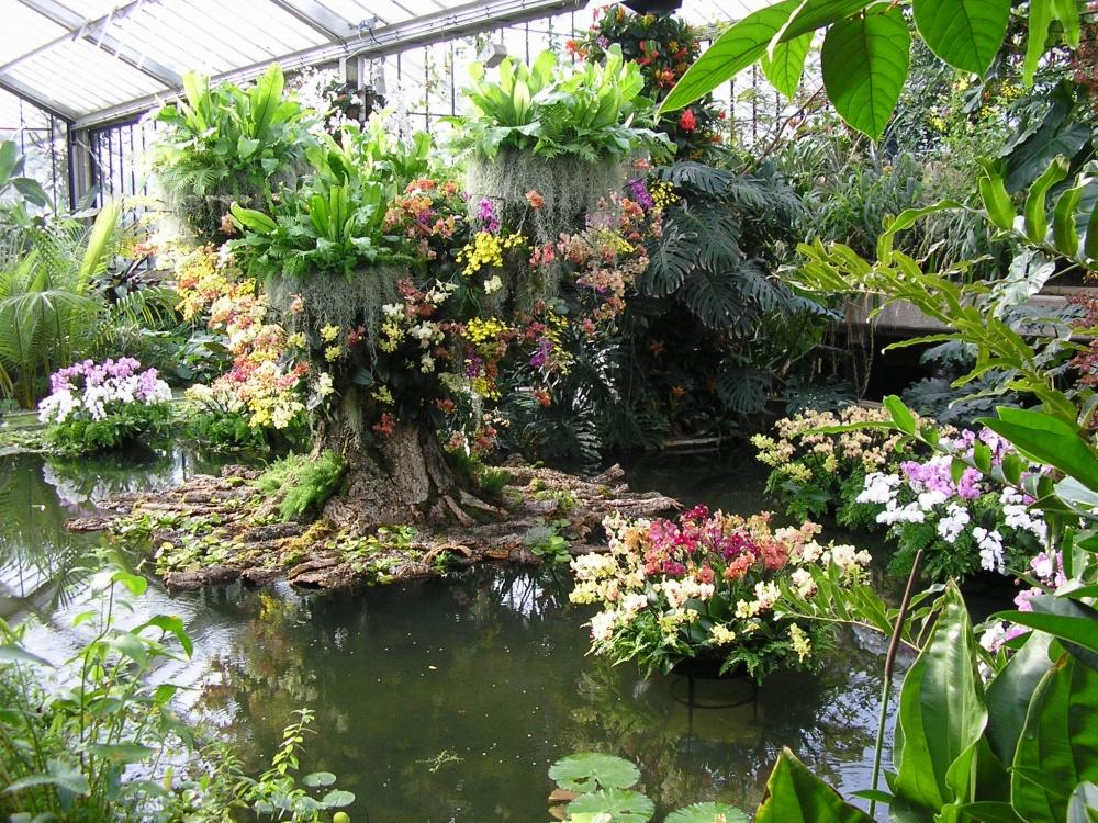 Сады Кью возникли в1670 году впарке Кью, созданном лордом Генри Кейпелом наместе аптекарского ого