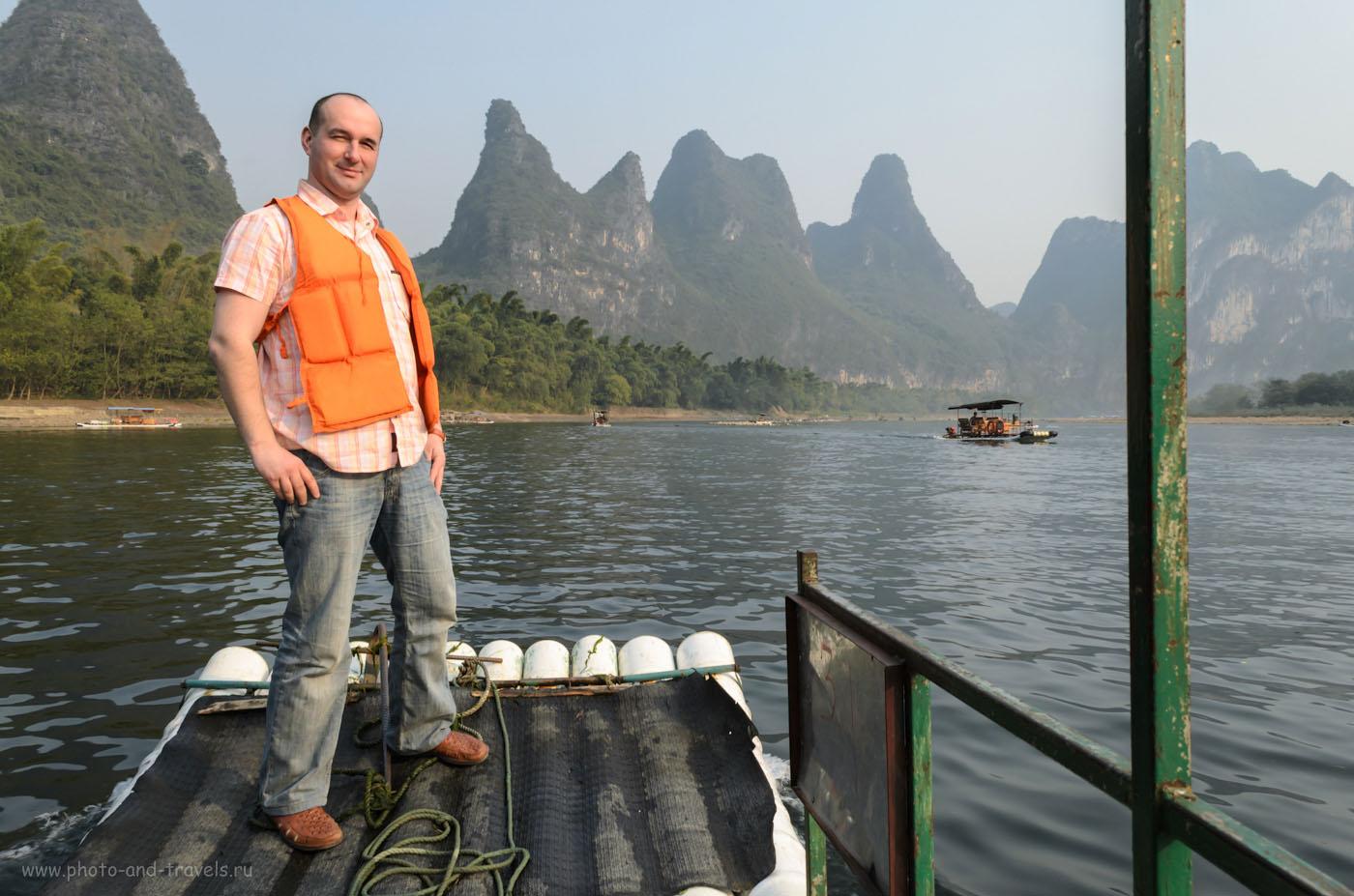 Фото 5. Фото. Сплав на бамбуковых плотах по реке Лицзян (丽江, Lijiang river) во время отдыха в городке Яншо на Юго-Востоке Китая. Отчеты о самостоятельной поездке.