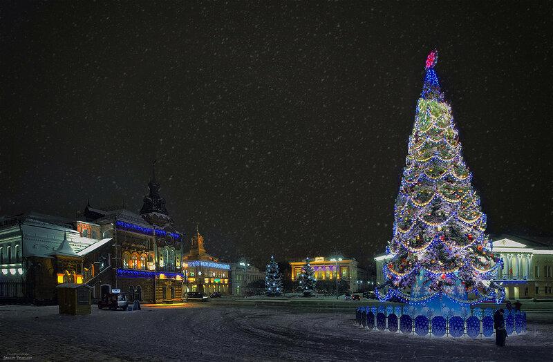Соборная площадь в канун Нового года.