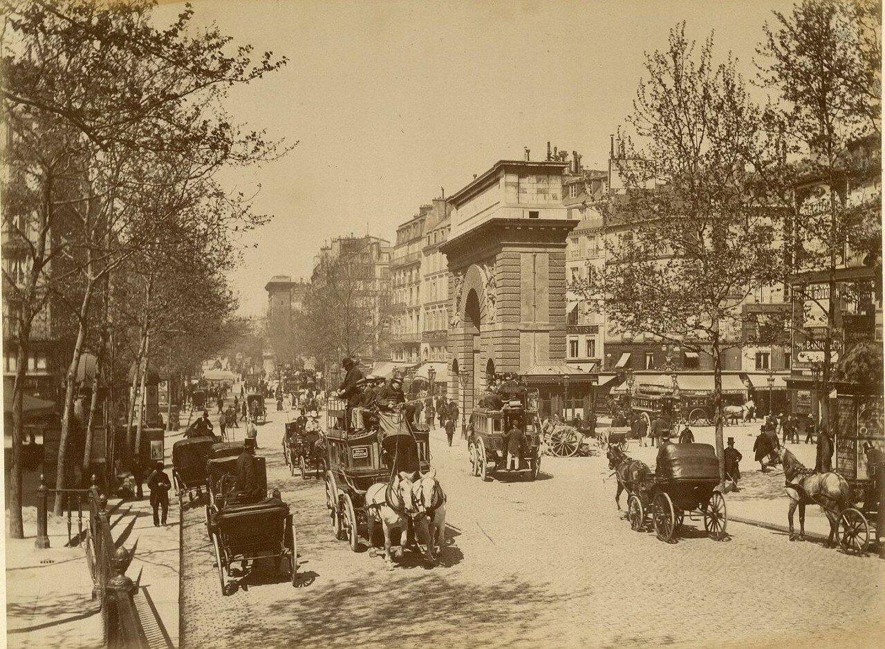 1880-е. Ворота Сен-Мартен и бульвар Сен-Дени