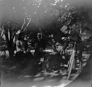 31 октября. Ашхабад. Генерал фон Шульц, его жена и дочь с Томасом Алленом