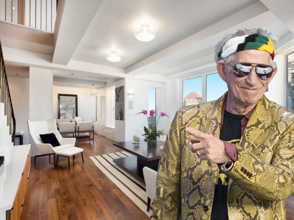 Пентхаус  легендарного гитариста Rolling Stones в Нью-Йорке, стоимостью 12 млн. долларов