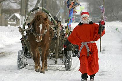 Туристы из России Новый год могут провести в компании Деда Мороза из Белоруссии