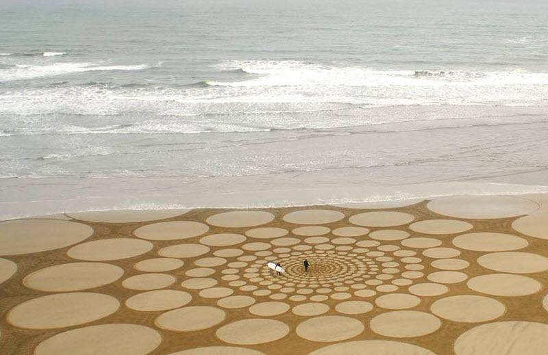 Узоры на песке (15 фото)
