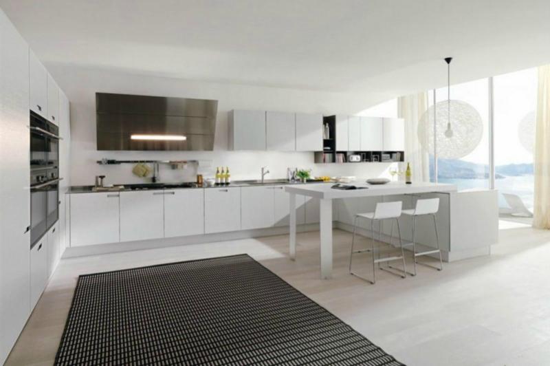 Белый цвет в интерьере кухни, фото 23