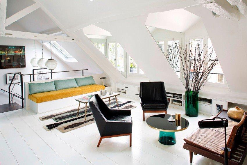 Парижская квартира в светлых тонах с яркими акцентами 5