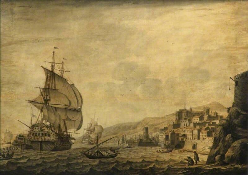 A Dutch Ship Arriving at Naples