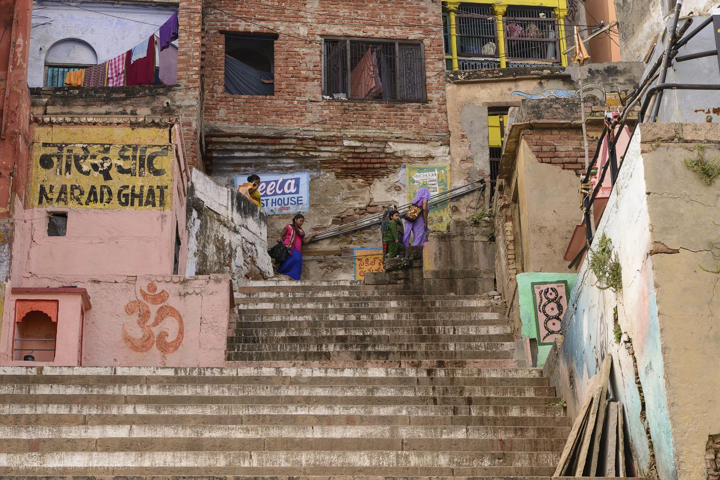 Фото 7. Поездка в Варанаси, один из самых известных городов Индии. Нарад гхат (Narad ghat). Его старое название Kuvai Ghat. Построен в 1778 году настоятелем одного из монастырей по имени Dattatreya Svami. 1/125, 9.0, 125, 70.