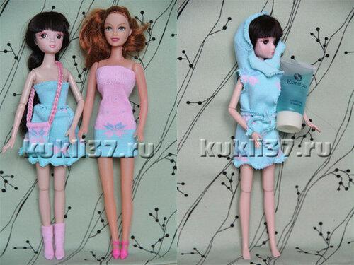 одежда для Барби из носков