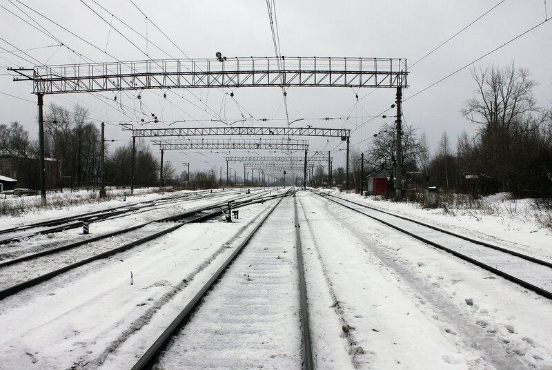 Станция Савёлово, вид на Москву