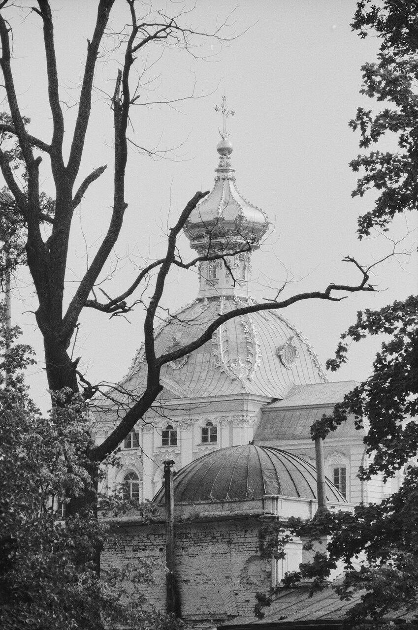 54. Петергоф. Большой дворец. Церковный флигель
