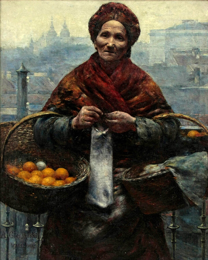 """Jewish woman selling oranges"" by Aleksander Gierymski (1850–1901) Polish, Warsaw"