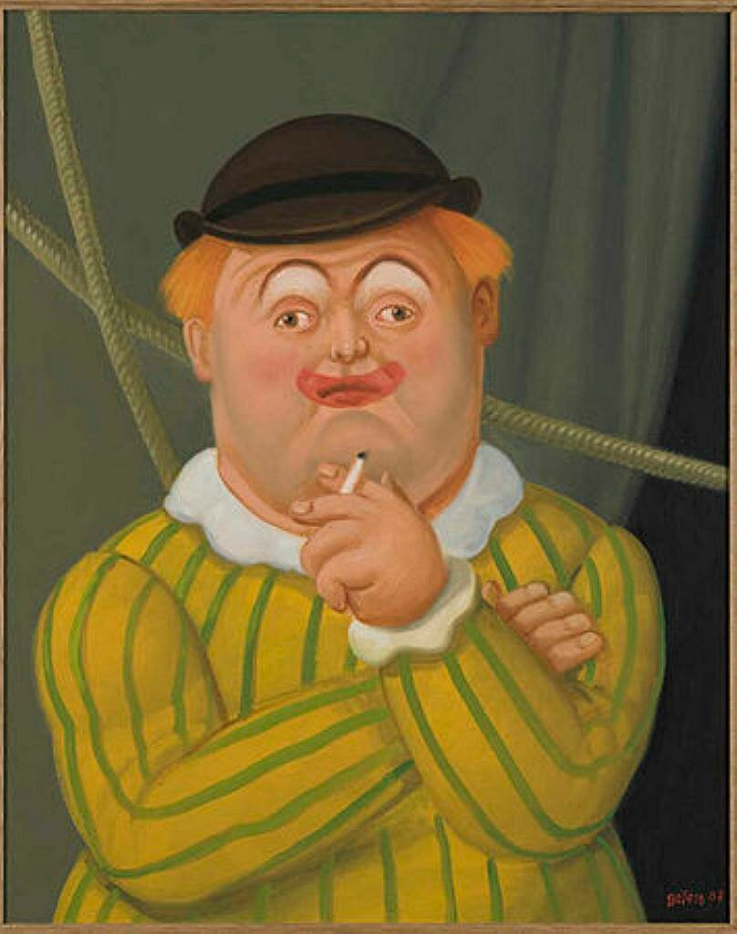 Smoking Clown, Circus People, 2008, by (born April 19, 1932)