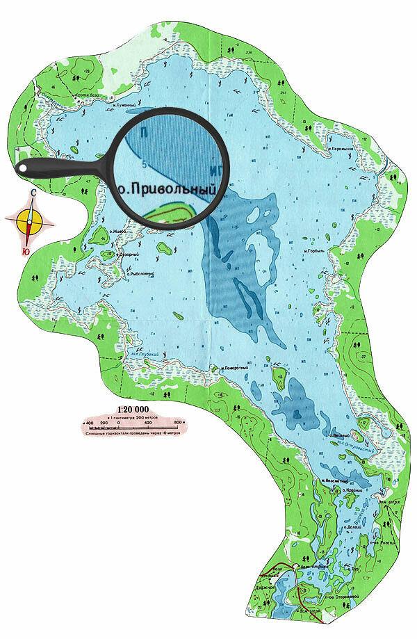 Озеро Балахановское - карта глубин