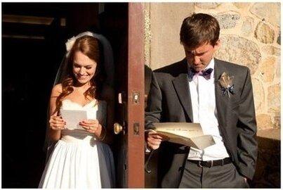 Обмен любовными письмами перед свадьбой