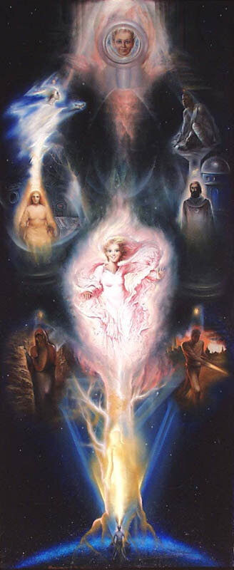 Итак, я благословляюсь Светом древа Иерархии.  Великие объёмы разной интенсивности Света, которые я визуализирую в...